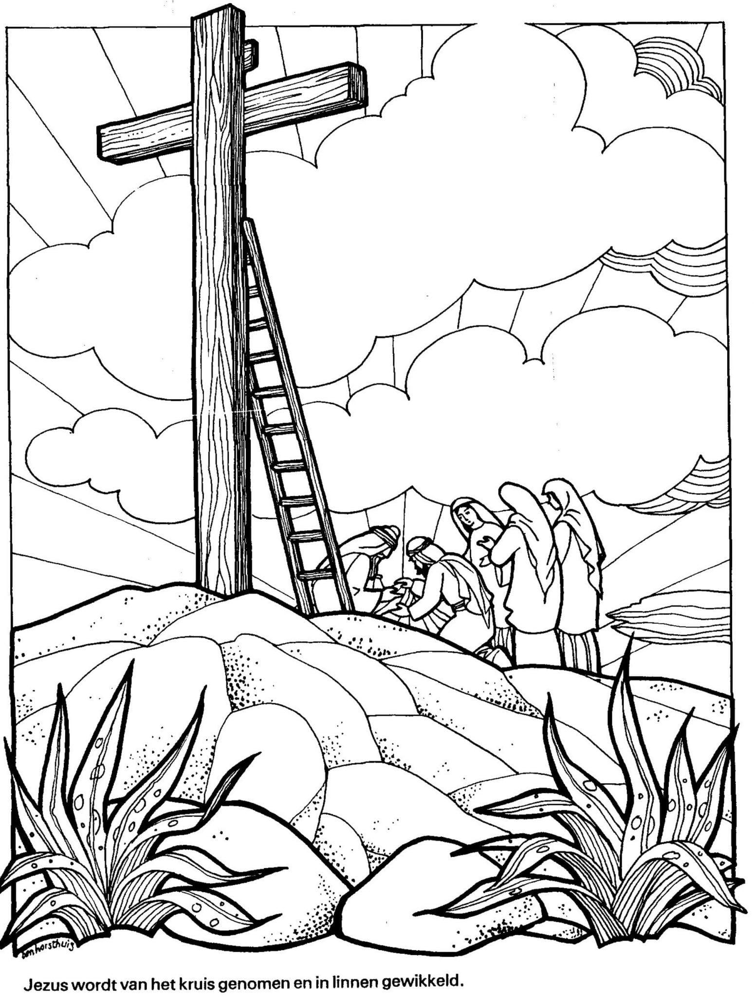 Bijbelse Kleurplaten Pasen.Bijbelse Kleurplaat Avondmaal