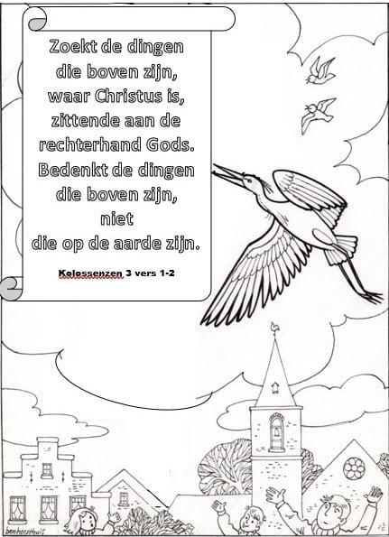 kleurplaat zoek de dingen boven bijbels opvoeden nl