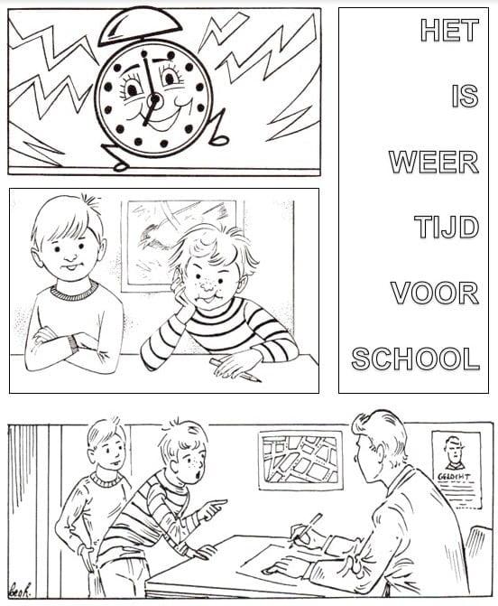 Kleurplaten Kleurplaat Nieuw Schooljaar