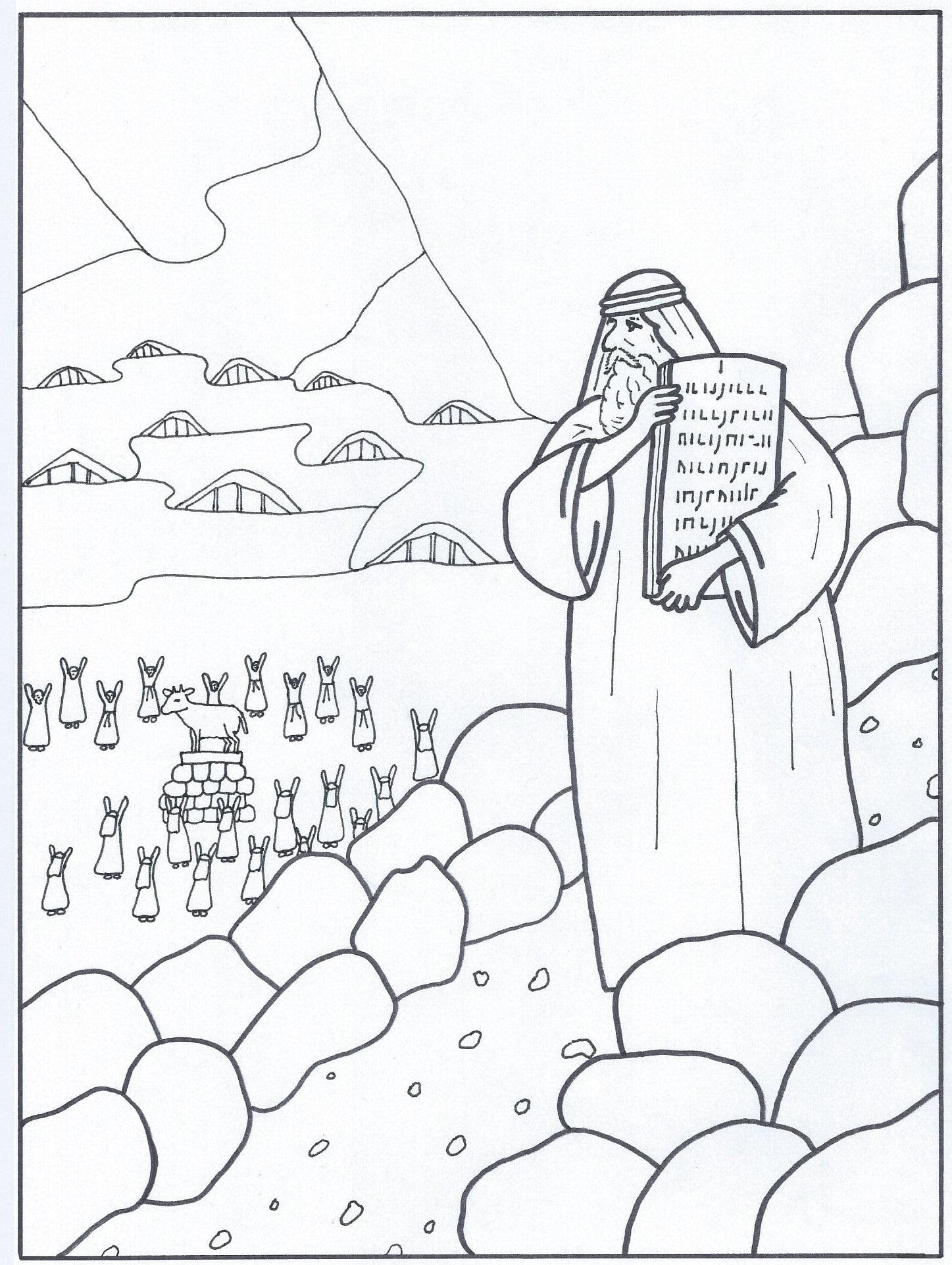 Extreem Kleurplaat Tien Geboden (6-12 jaar) – Bijbels Opvoeden.nl BP75