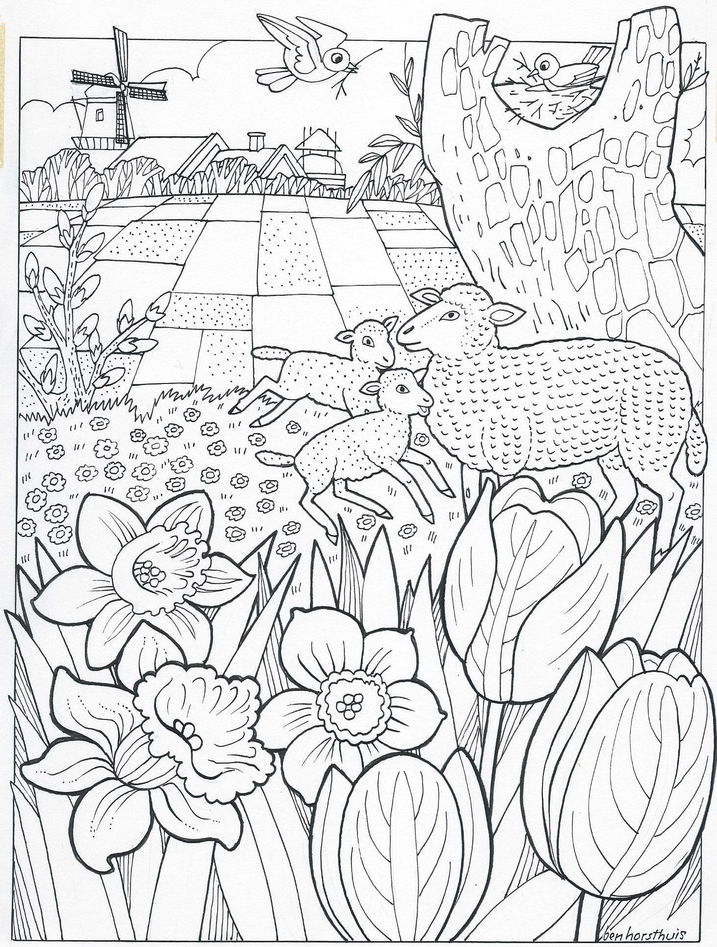 Kleurplaat Nieuwjaar 3 8 Jaar Bijbels Opvoeden Nl