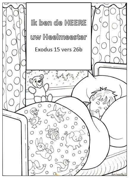 kleurplaat ziekte exodus15 26b bijbels opvoeden nl