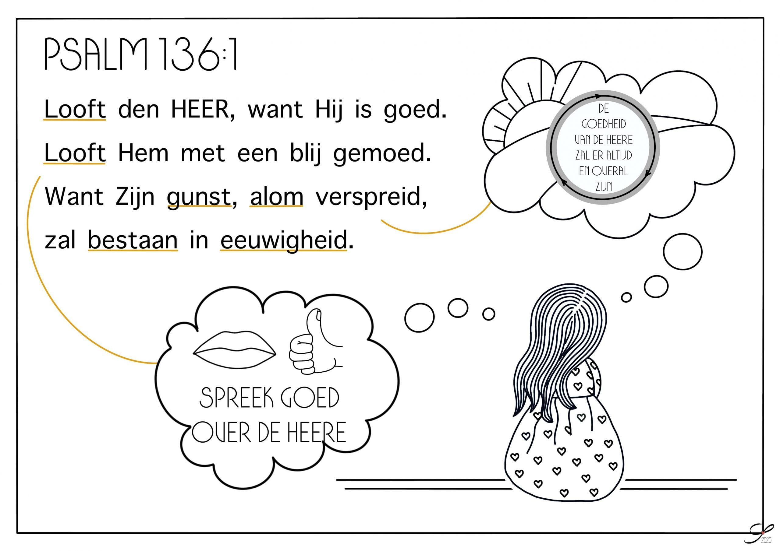 psalm 136 vers 1 kleurplaat bijbels opvoeden nl