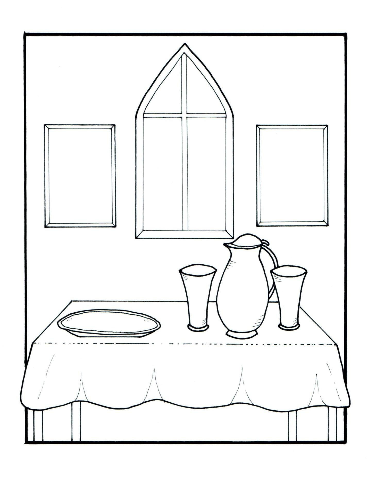 Kleurplaat Heilig Avondmaal 3 10 Jaar Bijbels Opvoeden Nl